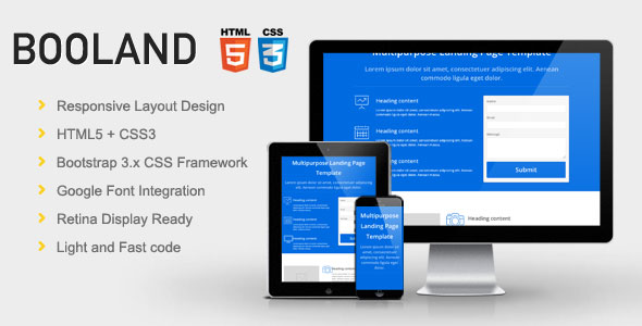 FREE Leads generation HTML Landing page Template